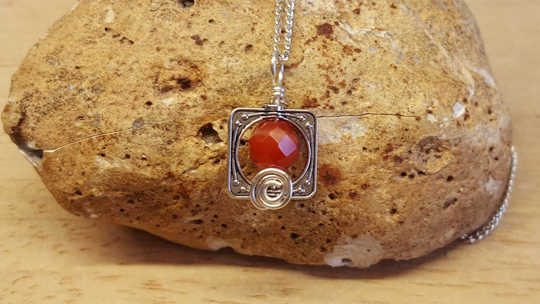 Small Red Sardonyx pendant