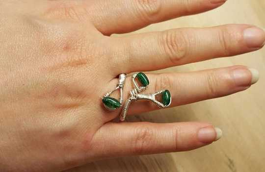 Chrome Diopside wire wrap ring.