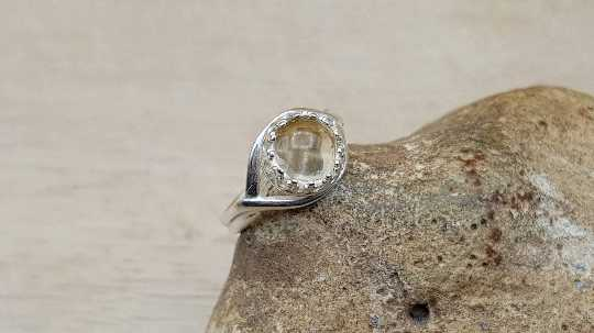 Citrine adjustable ring