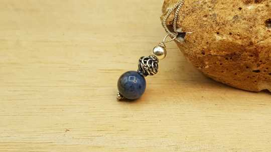 Small Dumortierite pendant