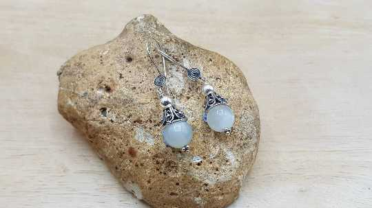Moonstone cone earrings