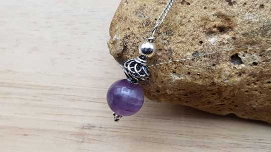 Small Silver Amethyst Pendant